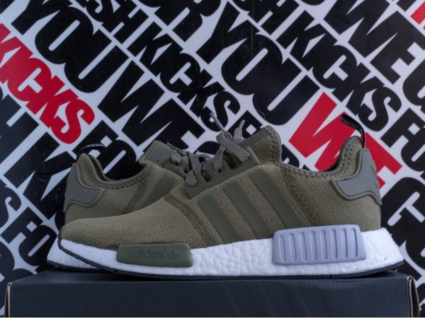 "Adidas NMD R1 ""Olive Cargo"" -- Footlocker Europe Exclusive - photo 1/1"