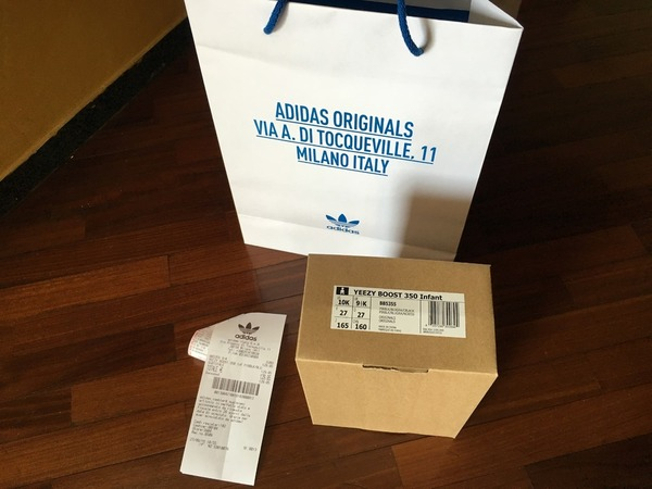 Adidas Yeezy Boost 350 infant Pirate black size 27 eur - photo 1/9