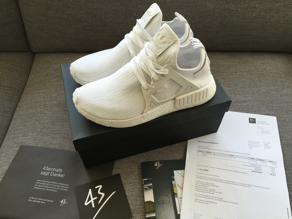 uztoxa Adidas NMD XR1 PK All White (#675733) from Maximilian Walter at KLEKT