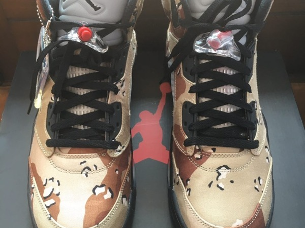 <strong>Jordan</strong> Nike <strong>Air</strong> <strong>Jordan</strong> 5 <strong>x</strong> <strong>Supreme</strong> <strong>Desert</strong> <strong>Camo</strong> SZ 12 DS - photo 1/6