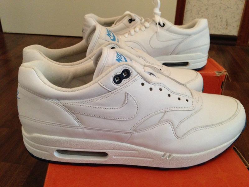 b6988a019da1 Nike Air Max 1 White Leather leoncamier.co.uk