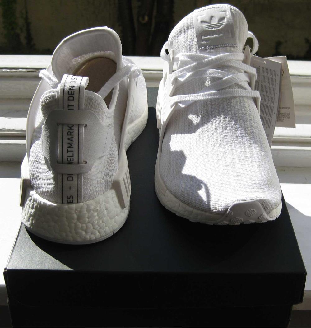 pglths Adidas NMD XR1 PK all White Vintage Primeknit US:12; 12.5 (#708133