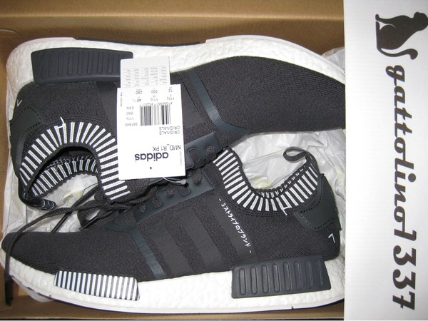 Adidas NMD_R1 Japan Triple Black Primeknit Running Shoes US 12 EU 46 23 NEW