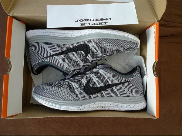 Nike Flyknit Lunar 1 Wolf Grey - photo 1/2