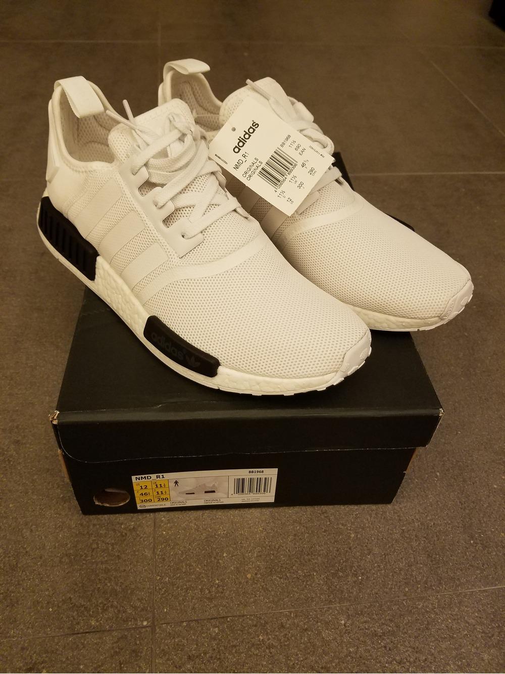 Adidas NMD_XR1 Primeknit Homme Sneakers Blanc/Blanc BB1967