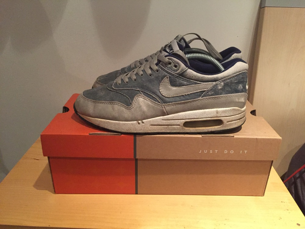 nike air max 1 dirty denim size us 9 42 5 716203 from. Black Bedroom Furniture Sets. Home Design Ideas