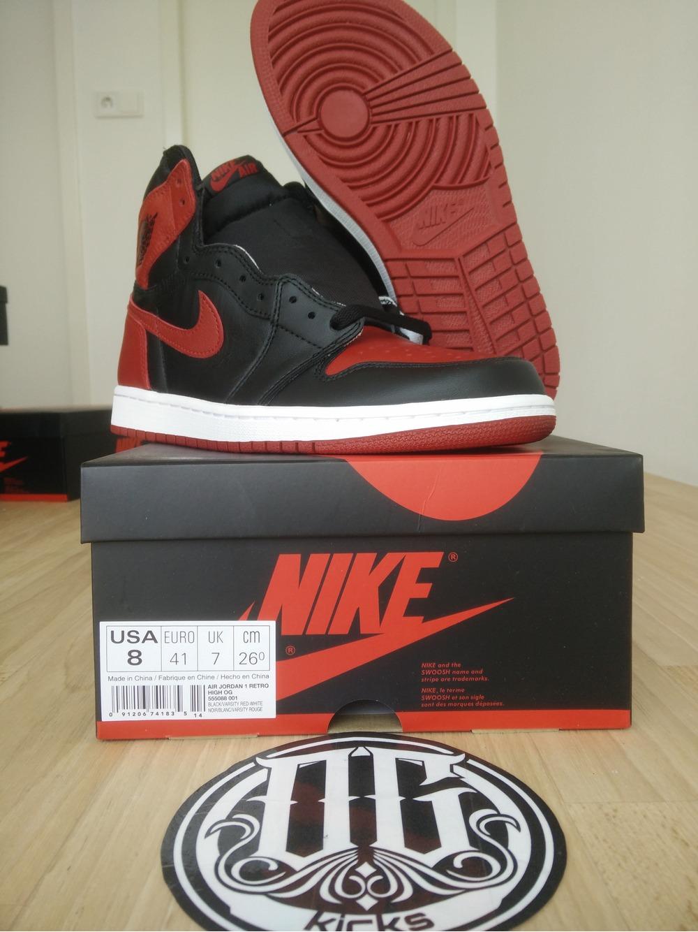 e510532f4ce Nike Air Jordan 1 Retro High Banned Bred 2013 DS SIZE 10.5 US OG Red Black Air  Jordan 1 Banned 2016 size US 8 EU 41 - photo 29 ...