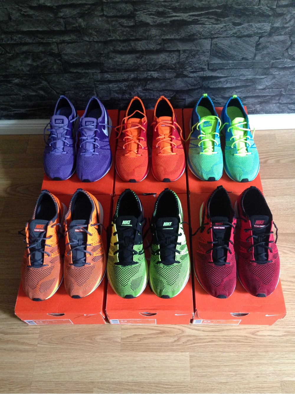 ... htm volt 532984; nike flyknit trainer red orange us8.5 racer multicolor  chukka lunar london orca oreo