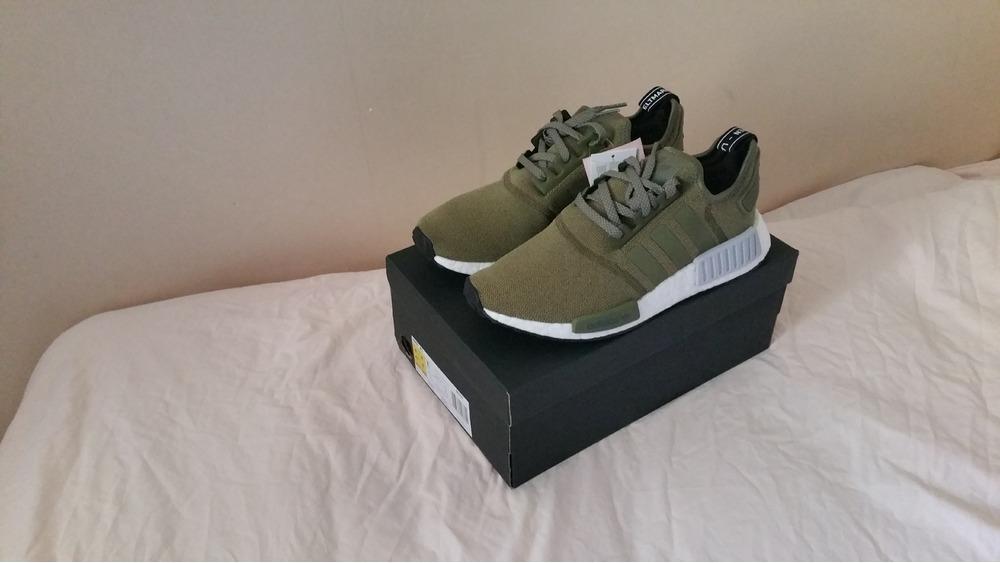 adidas nmd r1 olive cargo green