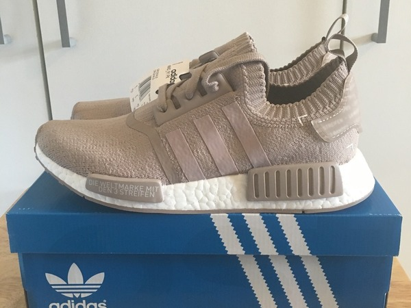 Adidas NMD R1 Primeknit Vapour Grey French Beige - photo 1/9