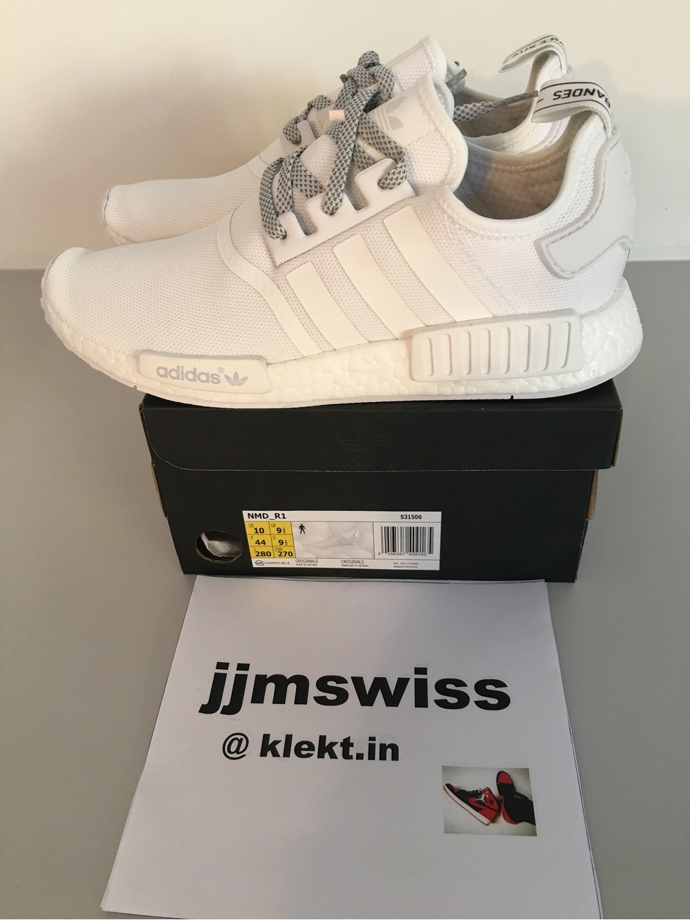 adidas NMD R1 Pink Grey, Women's Fashion, Shoes on Carousell