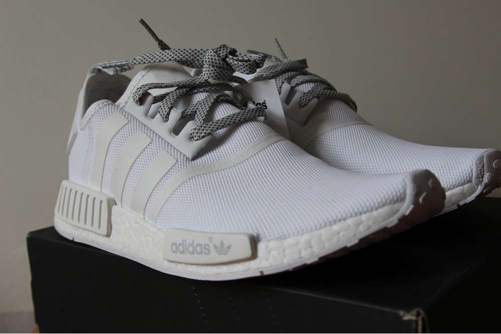 shbhfa adidas NMD R1 Allwhite 2016 45 1/3 US11 UK10,5 29cm New Deadstock