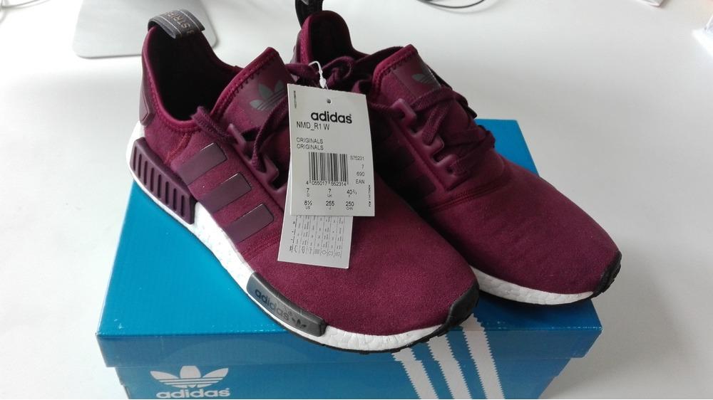 1675a6ae4 adidas nmd runner suede burgundy