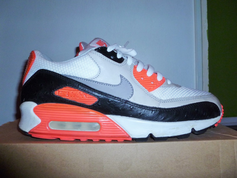 Nike Air Max 90 Premium Infrared Ostrich Shoes