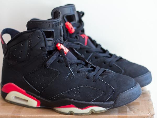 Nike Air Jordan 6 Black infrared 2000 44.5 Retro OG 136038 061 - photo 1/5