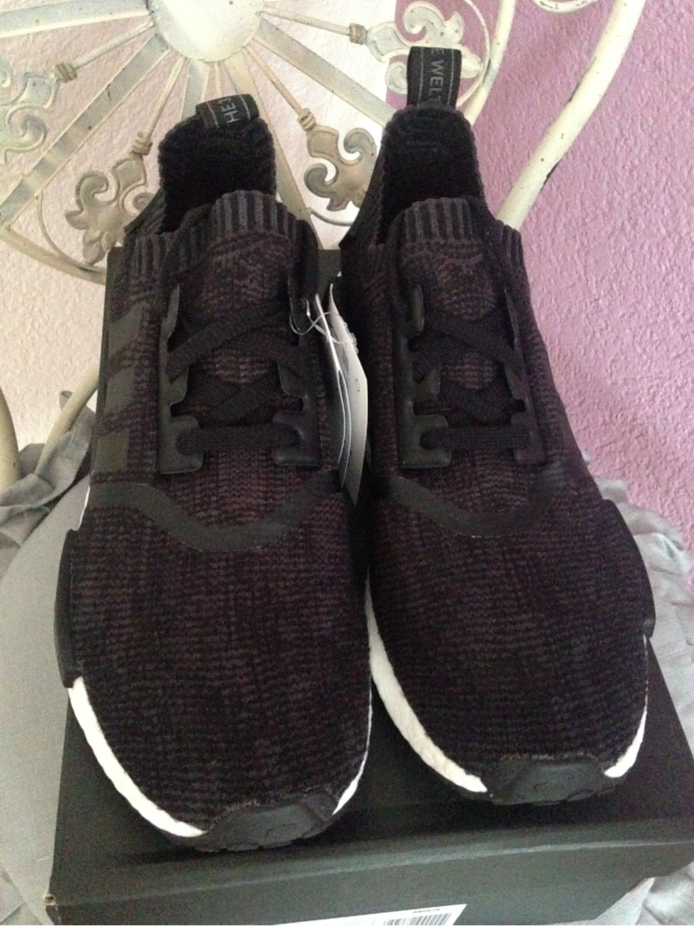 Adidas NMD R1 Women's S75721 Blanch Purple Size 9.5 UK 8 F 42