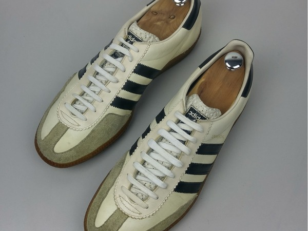 Adidas Originals Universal Made in Yugoslavia Vintage 1980's Black White Leather Suede Retro - photo 1/9