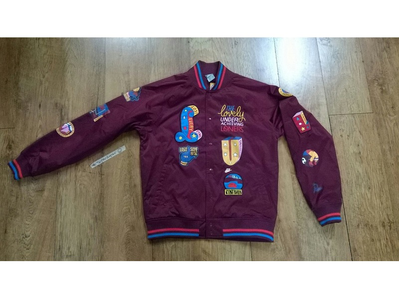 sale retailer ffae2 b0b6f ... Nike x Parra Varsity Jacket .