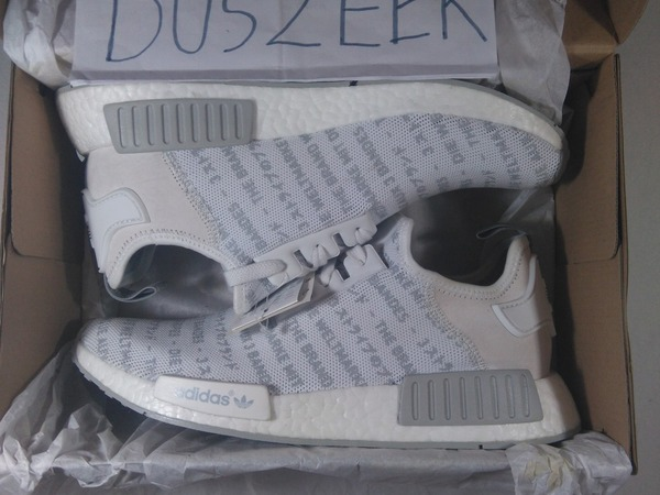 ADIDAS NMD R1 MESH WHITEOUT LETTERS 8US - 12.5US DS WHITE STRIPES CORE BLACK S76518 - photo 1/1