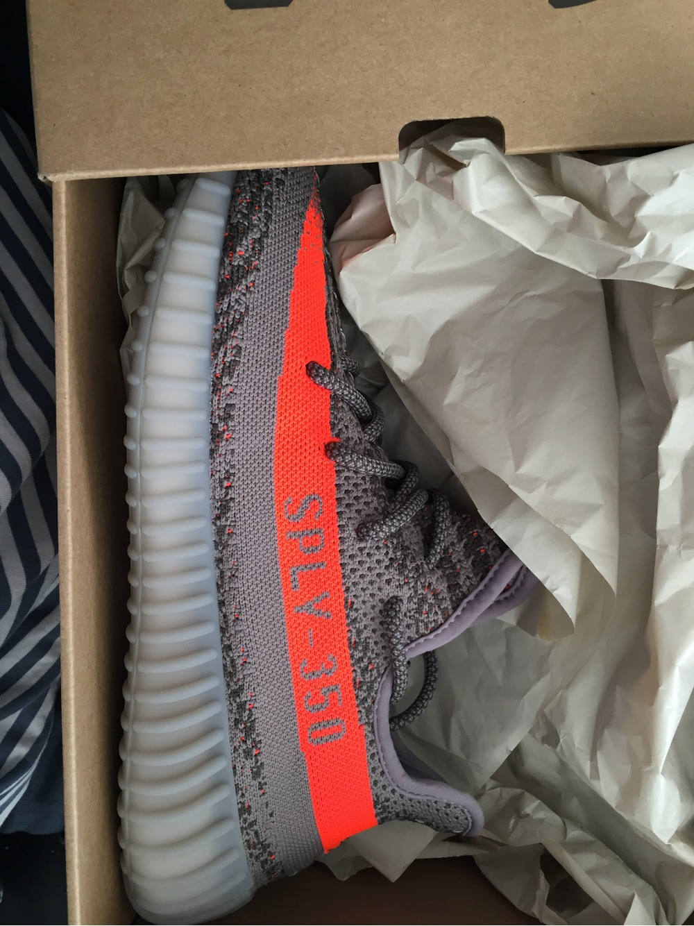 Adidas yeezy boost 350 V 2 4 13 gray solar red beluga BB 1826 Cheap Sale