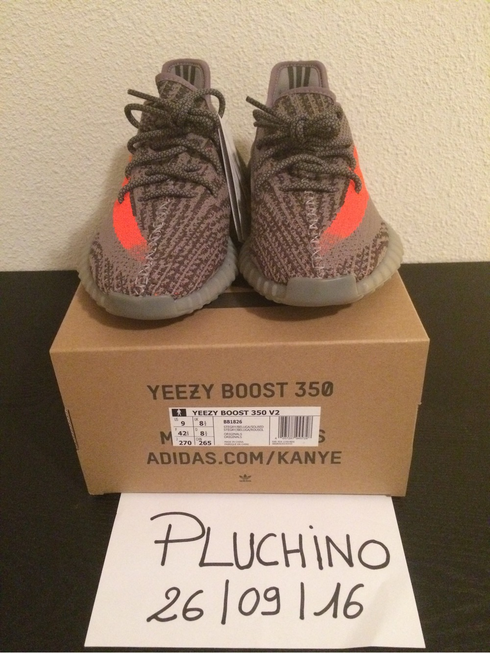 ADIDAS YEEZY BOOST 350 v2 BY 9611 IN HAND SPLY Cheap Sale