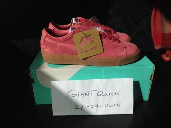 Supreme x Nike SB Blazer Low GT pink US8.5 - photo 1/5
