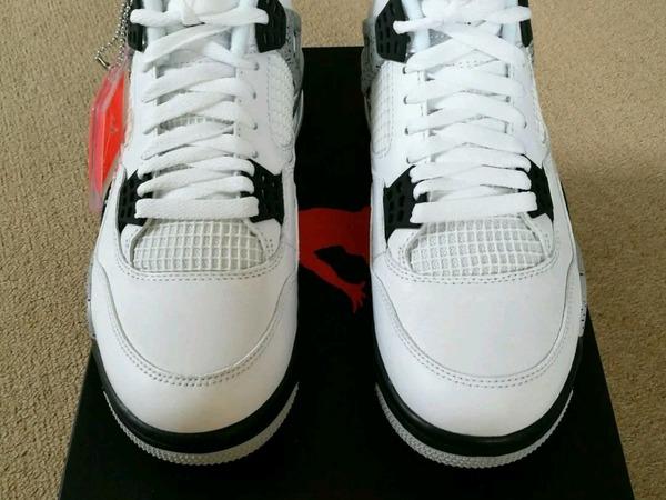 Nike Air Jordan 4 OG Cement Air Jordan 4 OG White Cement UK 7.5 - photo 1/4