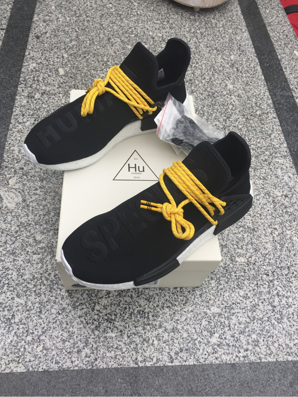Adidas Mens Pharrell Williams X Human Race NMD Yellow NMD