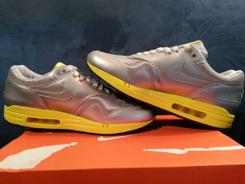 new styles 361d5 5b999 ... NIKE AIR MAX 1 PREMIUM CMYK Deadstock silver yellow 44 US10 UK9 28cm -  photo . ...
