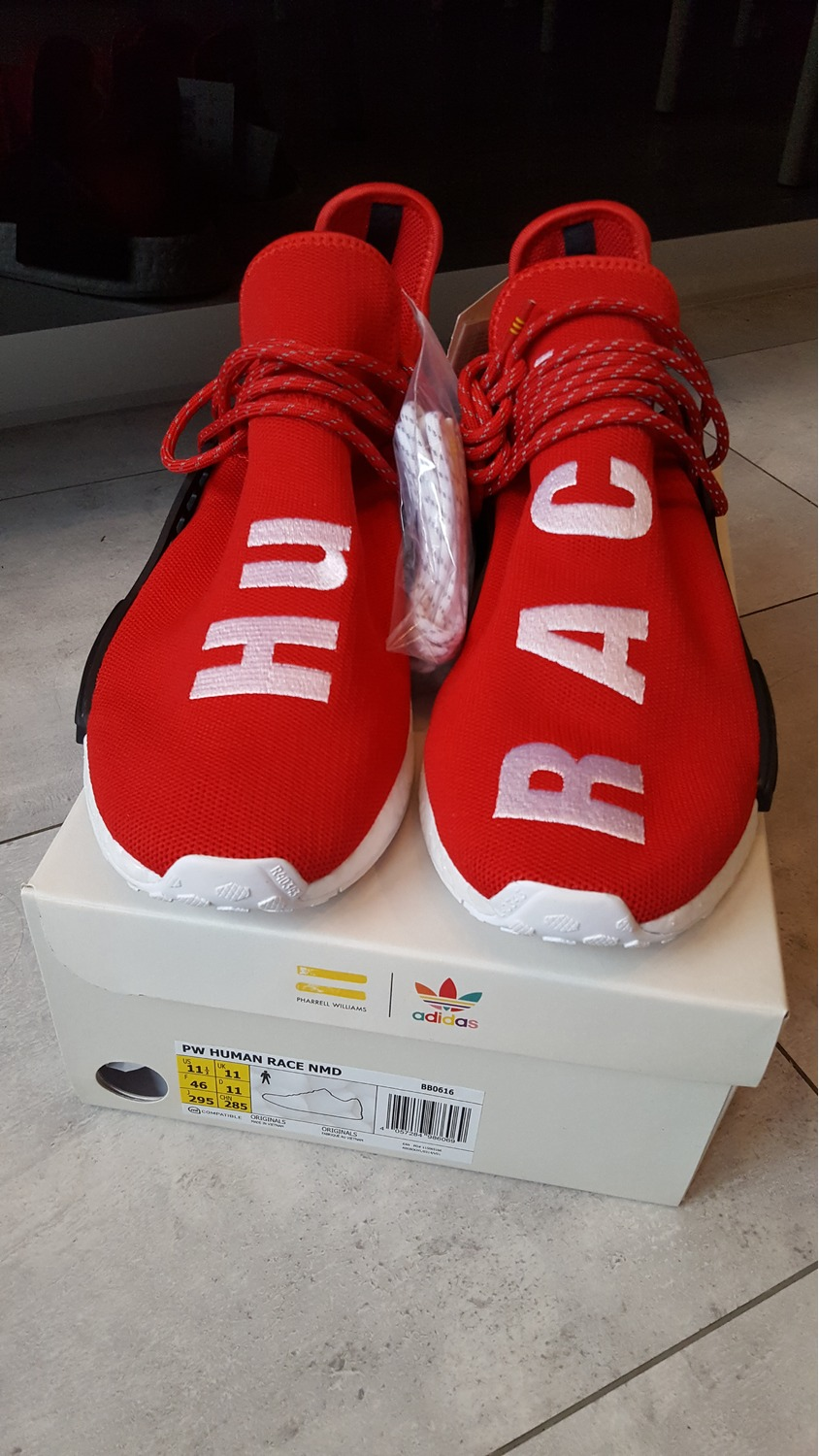 adidas NMD C1 Lush Red Suede Chukka S79147 DS on Hand Ready