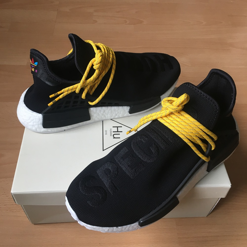 dde12ee313004 Adidas NMD Human Race Pharrell Williams Green BB0620 size 8