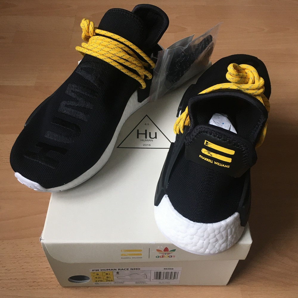 big sale 85ab4 80f6d Authentic Pharrell x adidas NMD Human Race Yellow