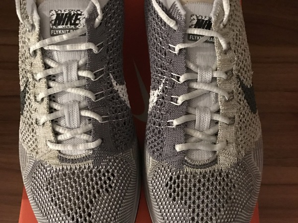 Nike Flyknit Racer Pure Platinum / Cool Grey - photo 1/3
