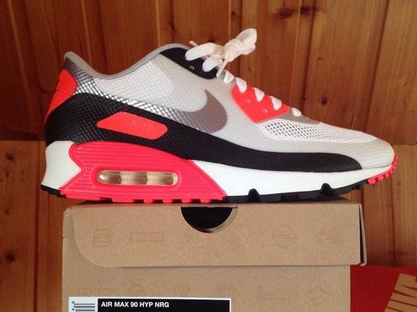 half off aa930 7c53d Nike Air Max 90 HYP NRG Infrared Hyperfuse 2012 Deadstock OG 548747-106 new  ...