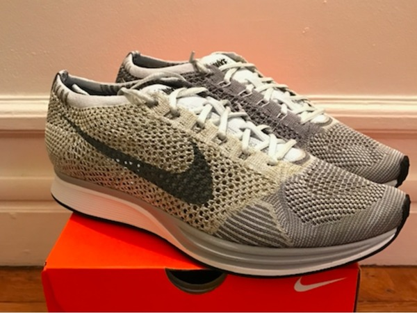 Nike Flyknit Racer Pure Platinum - photo 1/5