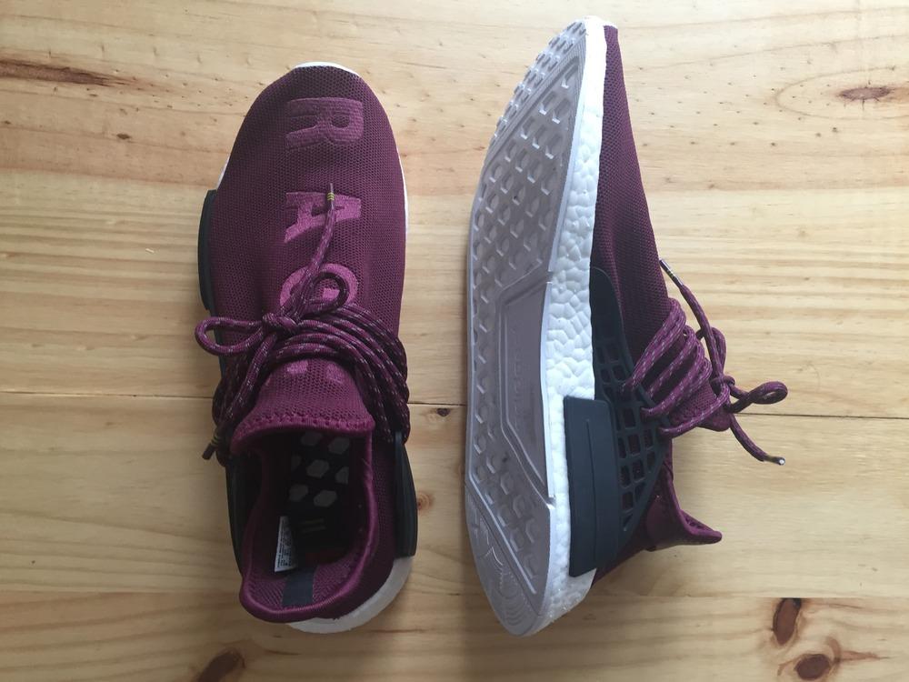adidas nmd human race burgundy