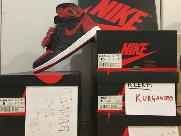 Nike Air Jordan 1 Banned bred, shattered backboard, SBB 1, yeezy, retro, doernbecher,bin,royal - photo 1/7