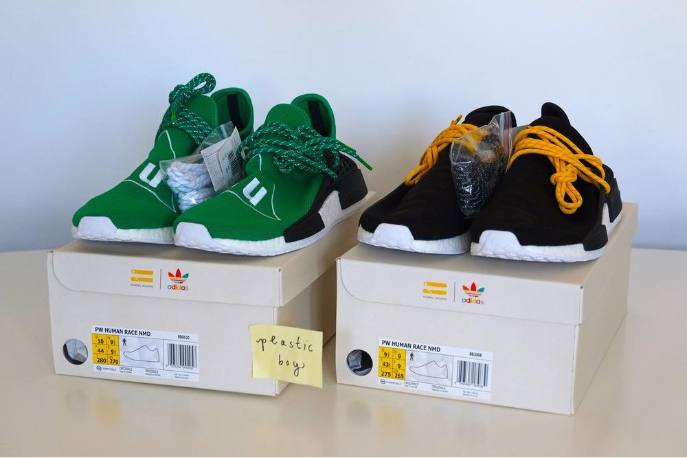 Brand New Sz 9 Adidas X Pharrell Williams NMD Human Race Red