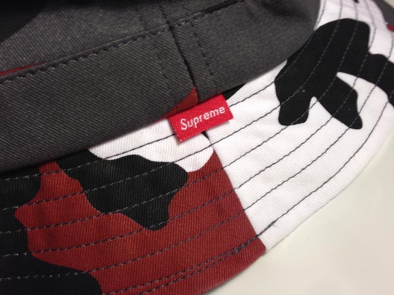 supreme urban red urban snow camo bucket hat 109551
