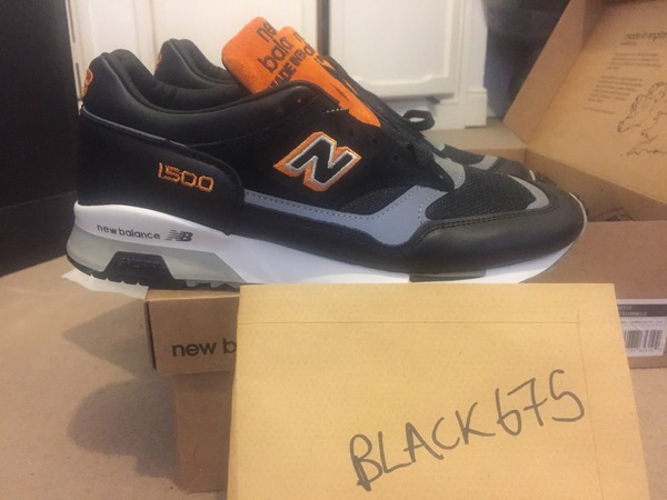 best sneakers 18329 9cb32 ... NEW BALANCE 1500 M1500LND LONDON CAB TAXI BLACK ORANGE MADE IN ENGLAND  US 10 US ...
