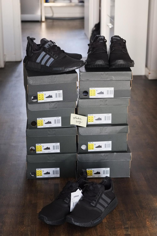 adidas Originals NMD R1 Women's Running Shoes Black/Black