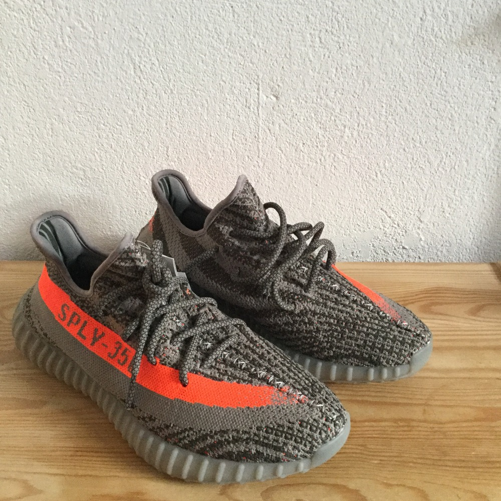 NEW Adidas Yeezy Boost 350 V2 Gray Beluga Solar Red Kanye West