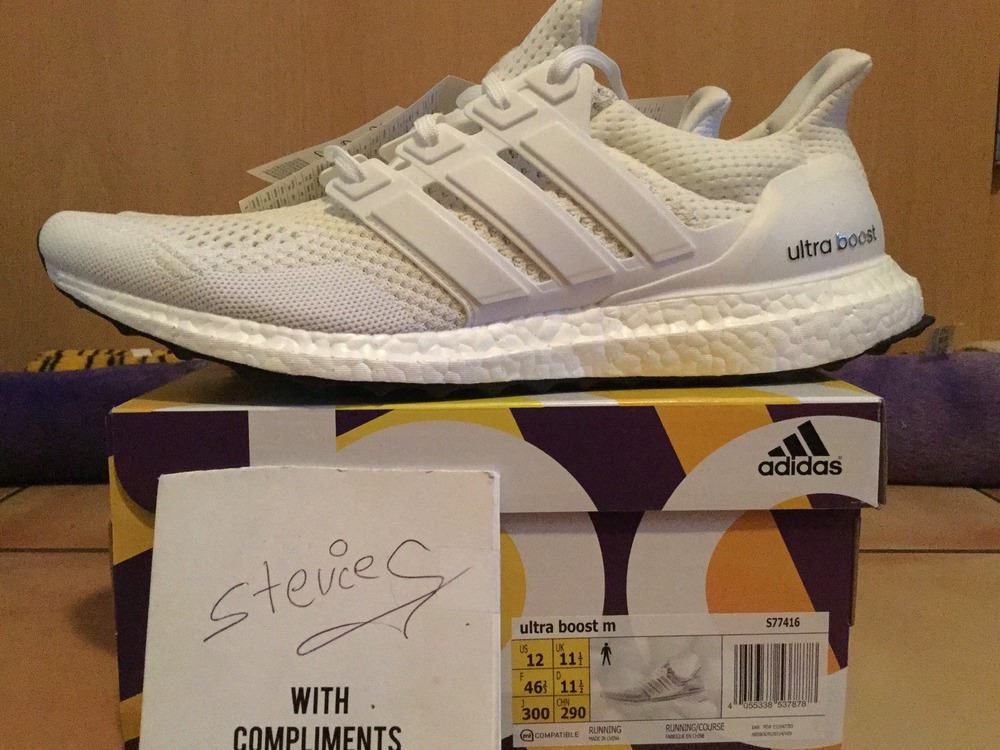 fashion styles sale retailer hot new products Adidas Ultra Boost 1.0 2015 All Triple White Key City Pack (#940280) from  Stevieg at KLEKT