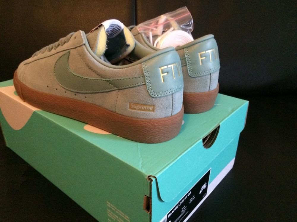 479fe8f3eea0 ... Supreme x Nike SB Blazer Low GT Cannon Blue Gum - photo 24 ...