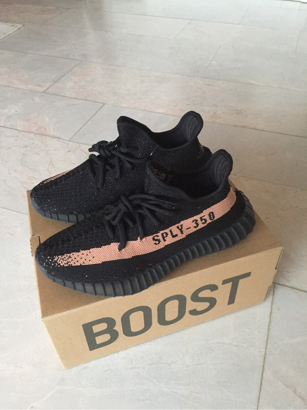 Adidas Yeezy 350 Boost v2 Black Red 10 10 BY 9612 Cheap Sale