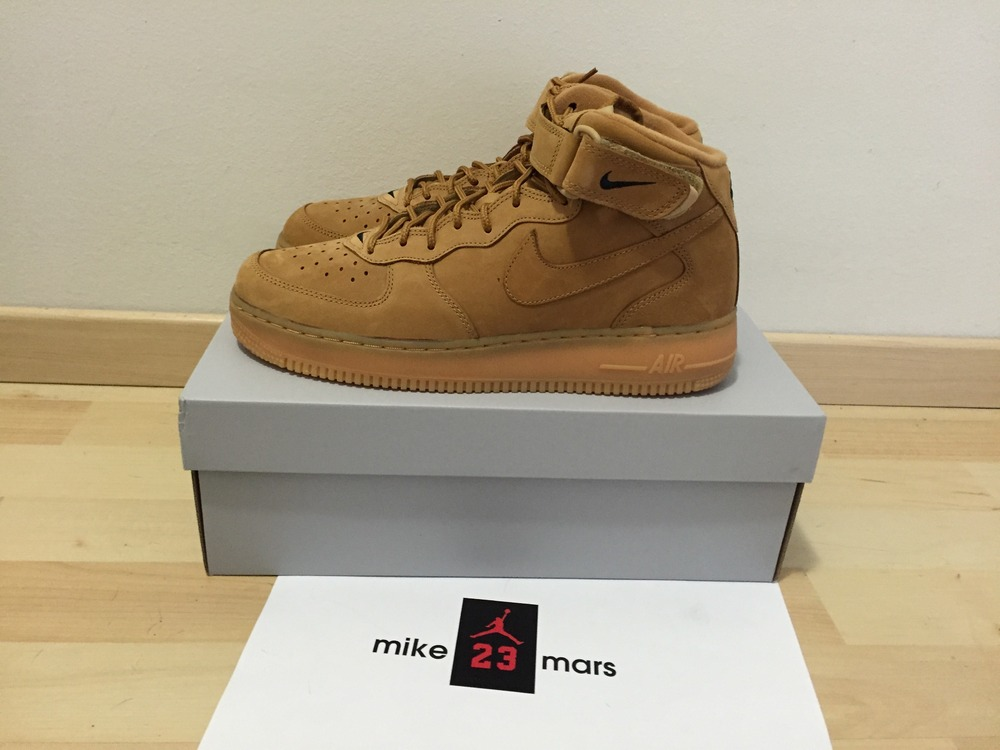 the best attitude efa5c 4c821 ... Nike air force 1 mid Flax Wheat 2016 9-9.5US - photo 1 .