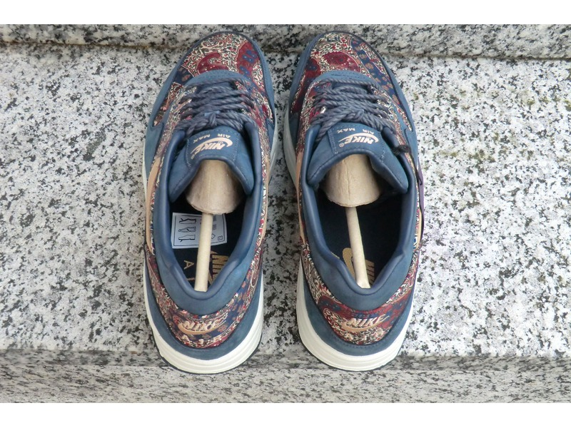nike air max 1 lib qs liberty london armory navy sail sz womens 5.5 540855  402; nike air max 1 x liberty london qs us us 9