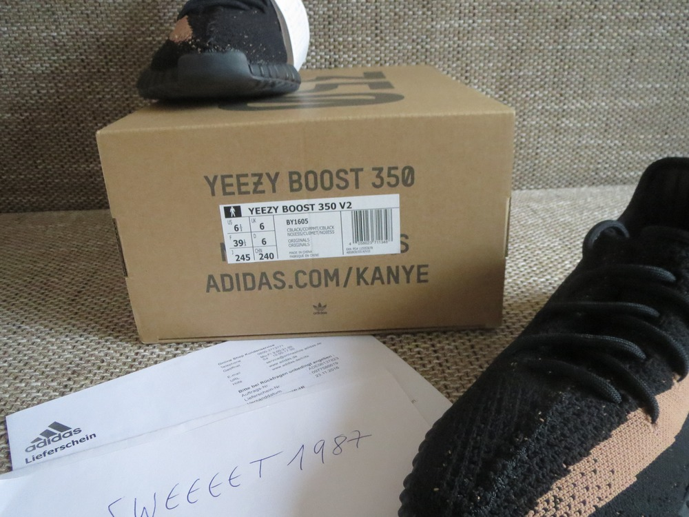 194a7ab23 Unboxing Australia £ 160 Cheap Yeezy boost  sply 350  V2 black copper. 10.