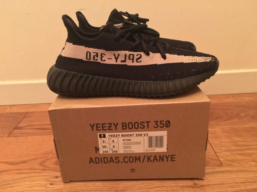 Adidas Yeezy Boost 350 v2 Black / Red CP 9652 UK 8 (# 1104916) from
