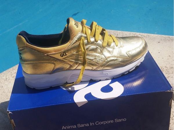 """Asics Gel Lyte V champagne pack """" gold"""" - photo 1/2"""